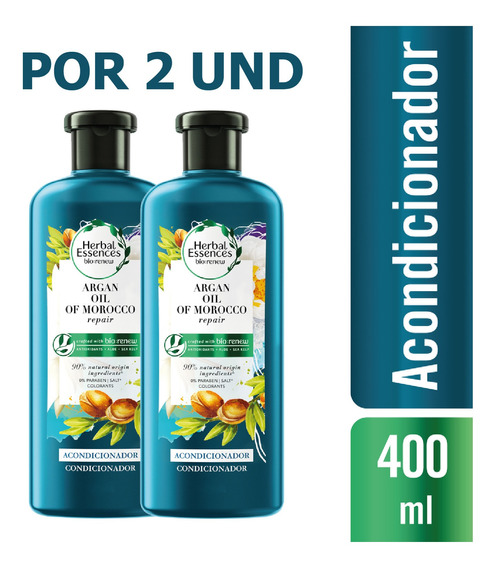 Acondicionador Herbal Essences Bio:argan Oil 400ml X2 Und