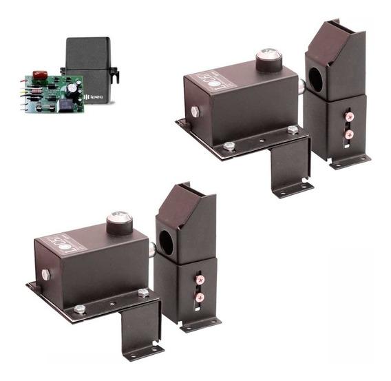 Kit 2 Trava Eletromagnética E Suporte C/ Temporizador Portão