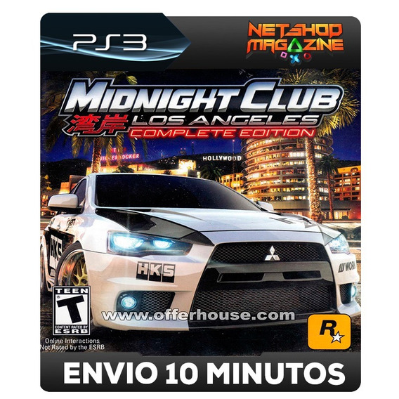 Midnight Club: Los Angeles Complete Edition - Psn Ps3