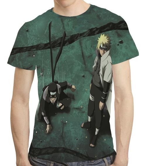 Camisa Anime Naruto Camiseta Hokage Hiruzen Tobirama 38