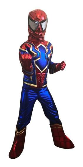 Disfraz Iron Spider Niño Modelo 2 Talla 10 Y 12