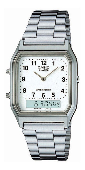 Relógio Casio Vintage - Aq-230a-7bmq - Analógico E Digital