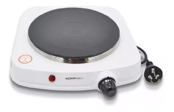 Anafe Electrico Wemir 1 Hornalla 1000 Watts Blanco