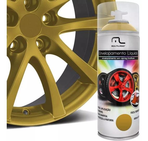 Spray Envelopamento Dourado Tinta 400ml Multilaser