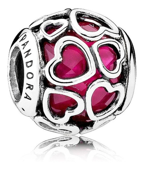 Charm Pandora Corazones Cristal 100% Plata 925