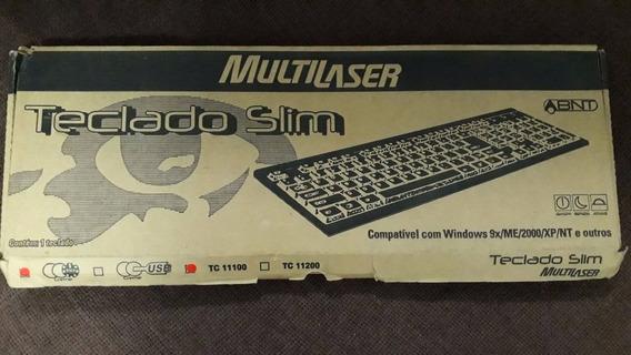 Teclado Slim Multilaser Ps2