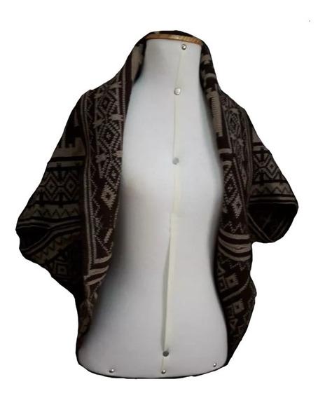 Kimono Cardigan Casaco Tricot Lazinha Estampa Etnica