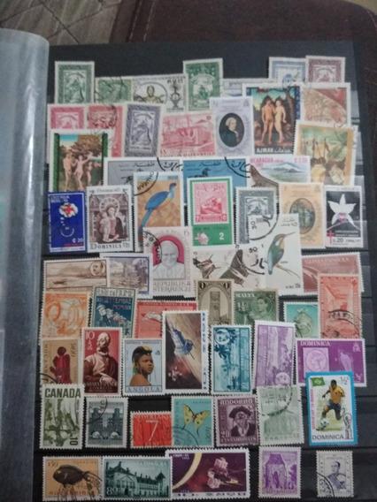 Filatelia. Colección 100 Timbres Varios Paises