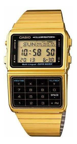 Relogio Casio Calculadora Original Dourado Frete Grátis