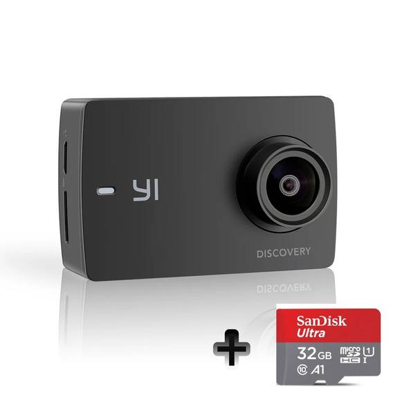 Câmera De Ação Filmadora Xiaomi Yi Discovery 4k +sd 32gb
