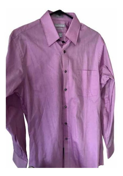 Camisa Formal Manga Larga Van Heusen 15 32/33 Lila Hombre