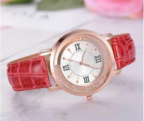 Relógios De Pulso Feminino Dourado Com Pedras De Zirconia