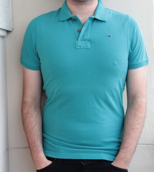 Camisa Polo Tommy Hilfiger Denim, Estilo Justa No Corpo M