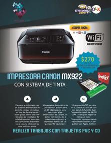 Impresora Canon Mx922 /tinta Continua Multifunción Cd/dvd..