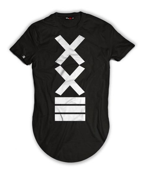 Camisetas Alongadas Blusas Camisas Xxiii Manga Curta Frete