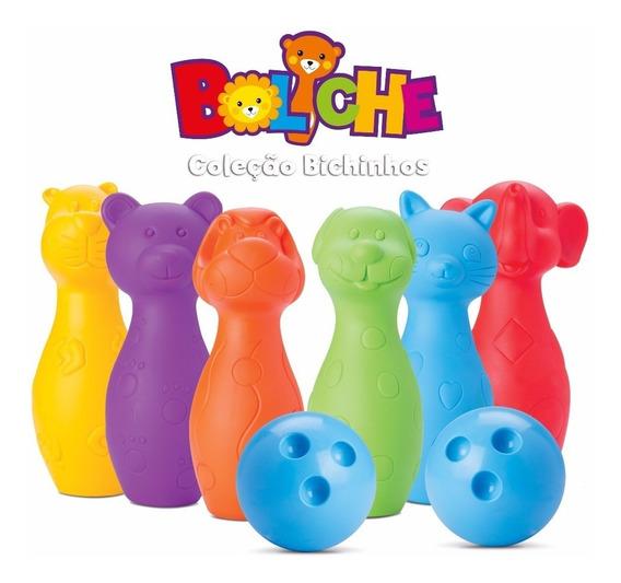 Jogo De Boliche Infantil Coleção Bichinhos - Roma Brinquedos