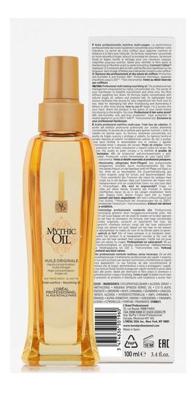 Aceite Huile Originale Mythic Oil 100 Ml Loreal Pro