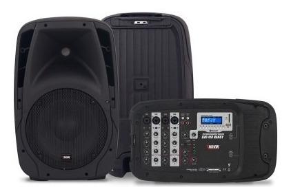 Kit Mixer Amplificado 4 Canais Novik 150w 2 Caixas Nkevo410