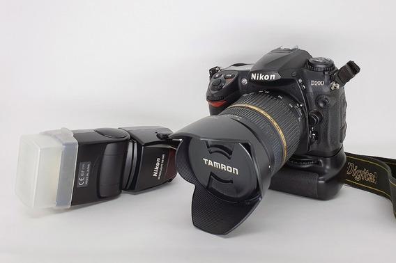 Câmera Nikon D200 Com Lente Tamron Af 28-75mm F/2.8