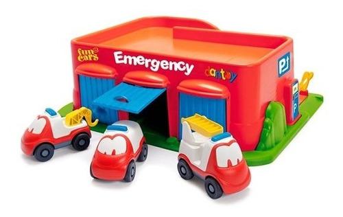 Centro De Emergencia + 3 Autos Para Niños Pequeños Dantoy