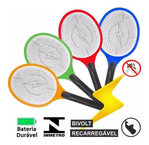 Raquete Elétrica Mata Mosquito Recarregável Bivolt Inmetro