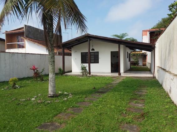 Casa Em Mongaguá Quintal Grande Ref: 7656 C