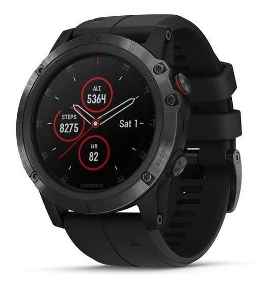 Relógio Multiesportivo Garmin Fenix 5x Plus Safira Preto C