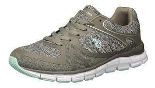 U.s. Polo Assn, Tenis Casual, 24.5 Mx, Gris/menta, Mt0045