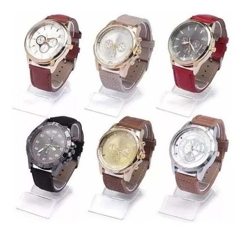 Kit 10 Relógios Masc. Com Caixa Atacado Revenda