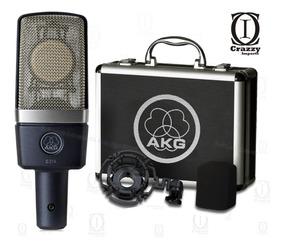 Akg C214 Microfone Condensador Original + Brindes