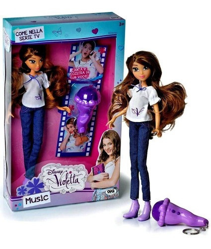 Muñeca Violetta Con Micrófono