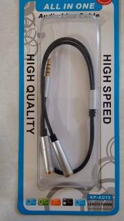 Cable Divisor De Audio A Jack 3,5 Mm