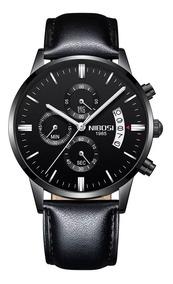 Relógio Masculino Original Nibosi - Pulseira Couro
