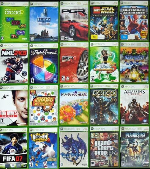 5 Jogos Xbox 360 Usados Midia Fisica Originais Games Gta Pes