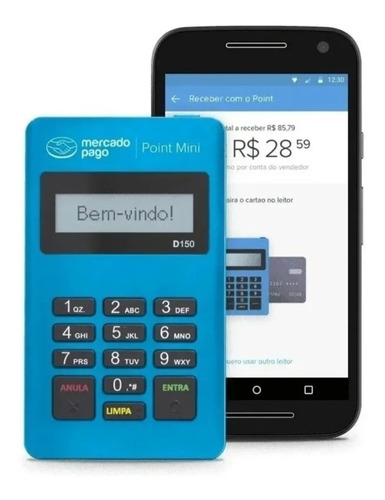 Imagem 1 de 4 de Não Perca Venda - Máquina De Cartão Point Mini Mercado Pago