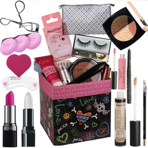Kit Maquiagem Completa Vários Itens Necessaire Organizadora