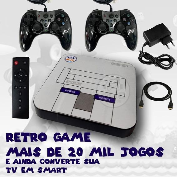Vídeo Game - Retro Gamer Box 20000 Jogos + 2 Controle Usb