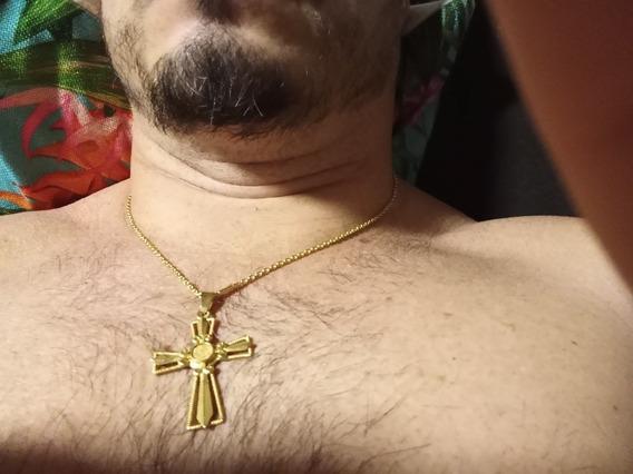 Cordão Com Pingente Em Ouro 18 K