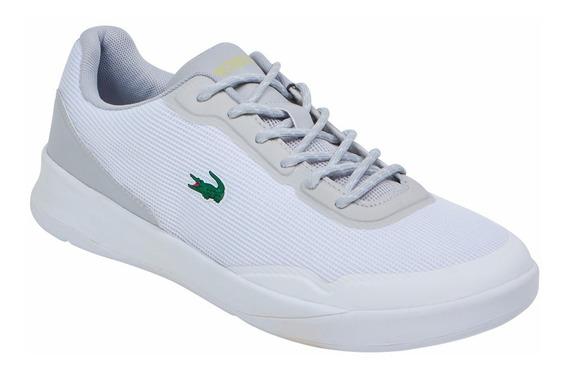 Tenis Lacoste Casual Para Hombre Color Blanco
