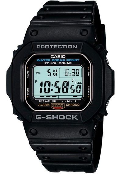 Relógio Casio - G-5600e-1dr - G-shock - Tough Solar