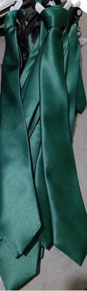 Corbata Verde Botella Escolar Con Resorte. Todos Los Colores