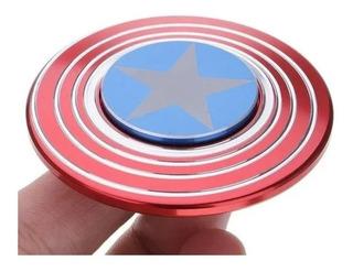 Spinner Capitán América Metálico Azul Dorado Oferta