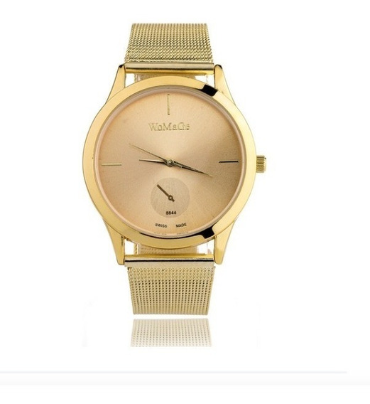 Relógio Feminino Rose Dourado Prateado Pronta Entrega Barato