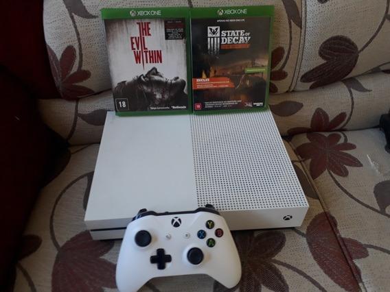 Xbox One S Usado + Controle E 2 Jogos Mídia Fisica