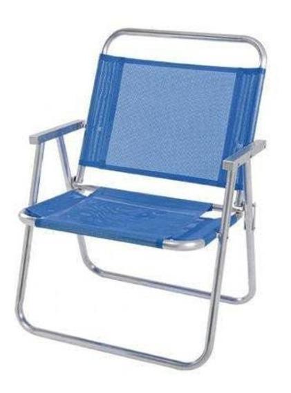 Cadeira De Praia Oversize Alta Capacidade Até 140kg Mor