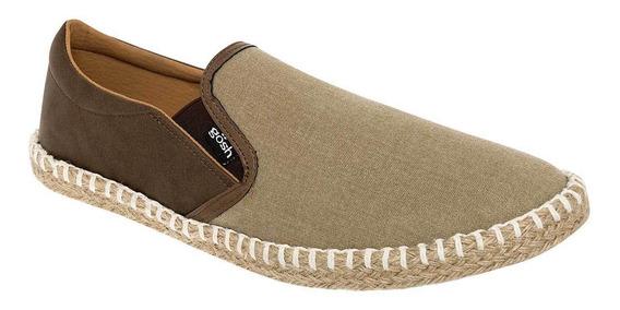 Zapato Casual De Hombre Beige Cafe