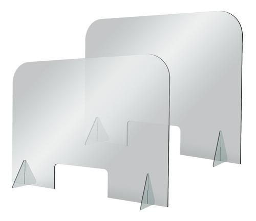 Imagen 1 de 3 de Kit 2 Barreras Protectoras De Acrílico 60x80 Cm / 3mm