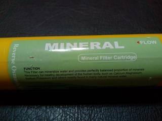 Filtro Mineralizador In-line Para Ósmosis Inversa.