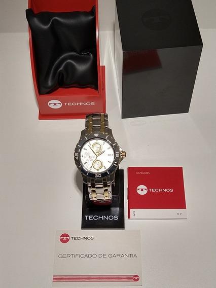 Relógio Technos Skymaster Multifunções Wr100 6p89ag/5k