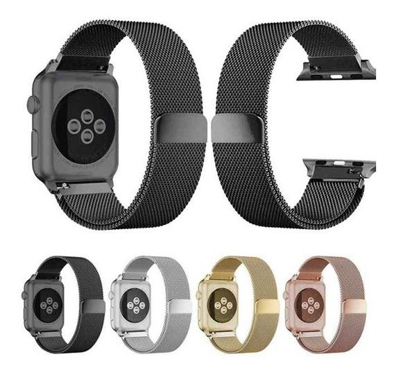 Correa Milanes Metal Acero Apple Watch Serie 1 2 3 4 Y 5